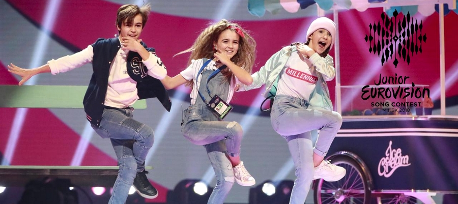 eurovision junior france angelina sabrina lonis albane leo dance team sabrina lonis jamais sans toi ice cream tv show singer the voice